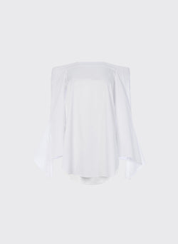 Satin Poplin Off-the-Shoulder Top White-10