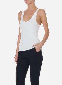 Mini Seamless Sweater Tank Ivory-4