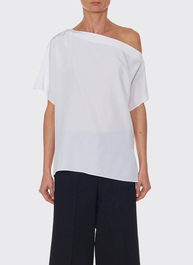 Silk Off-the-Shoulder Top Ivory-6