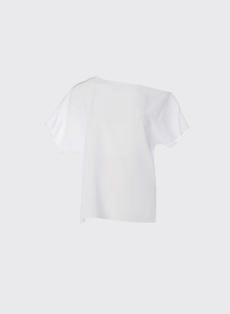 Silk Off-the-Shoulder Top Ivory-10