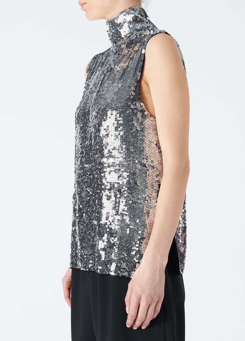Sequin Shell Turtleneck Top Sequin Shell Turtleneck Top