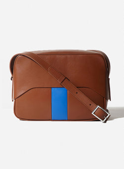 Tibi Garcon Bag Cognac/Blue Multi-9