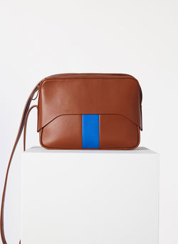 Tibi Garcon Bag Cognac/Blue Multi-8