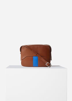 Tibi Garcon Bag Cognac/Blue Multi-7