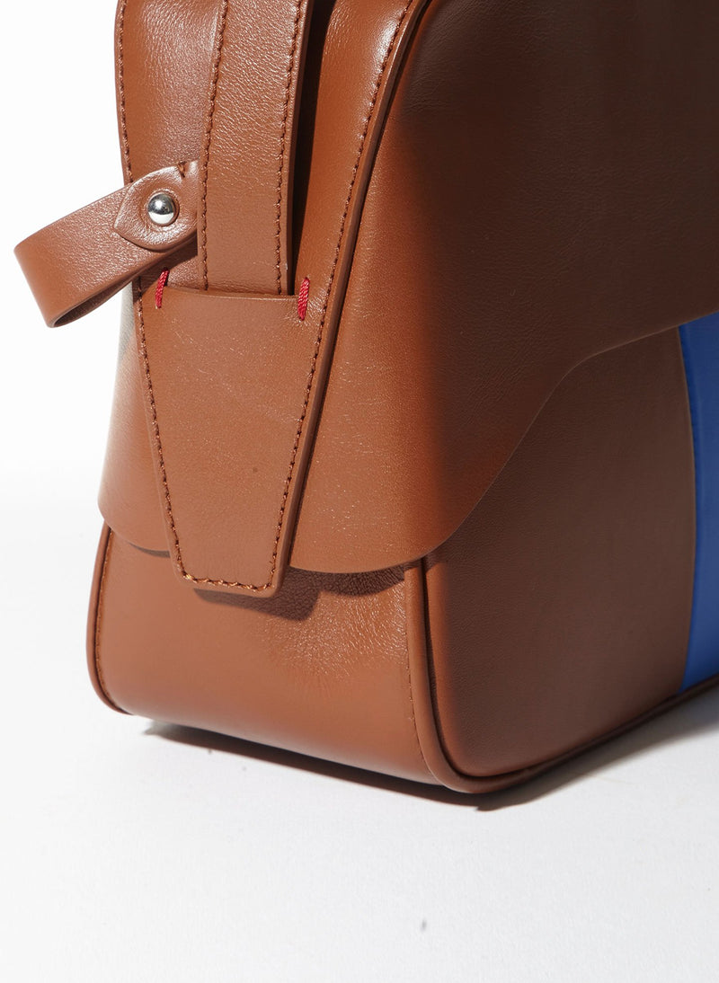 Tibi Garcon Bag Cognac/Blue Multi-11