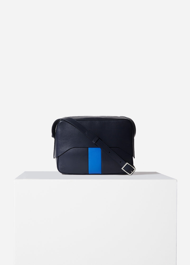 Tibi Garcon Bag Navy/Blue Multi-12