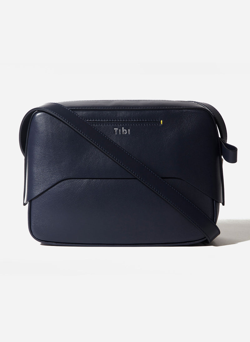 Tibi Garcon Bag Navy/Blue Multi-14