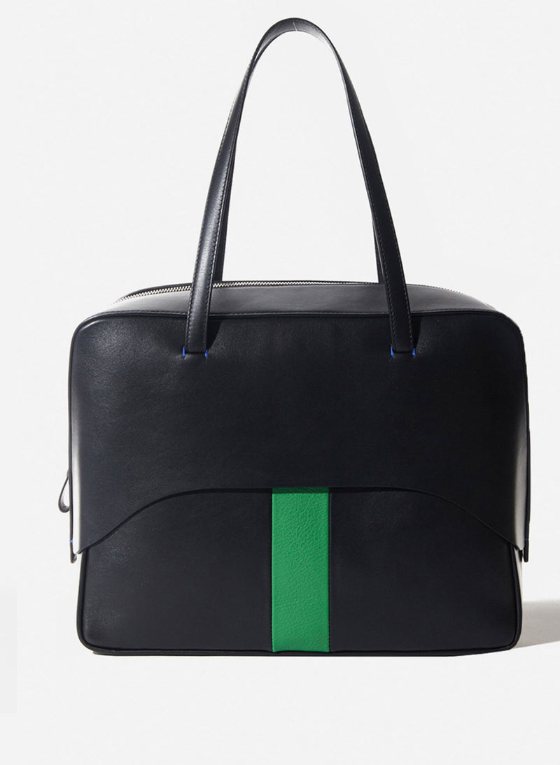 Tibi Papa Bag Black/Green Multi-2