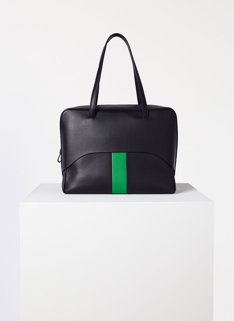 Tibi Papa Bag Black/Green Multi-1