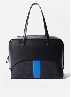 Tibi Papa Bag Black/Blue Multi-9