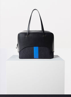 Tibi Papa Bag Black/Blue Multi-7