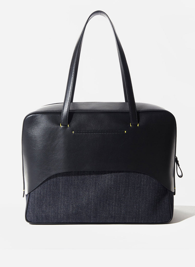 Tibi Papa Bag Black/Blue Multi-8