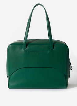 Tibi Papa Bag Green/White-3