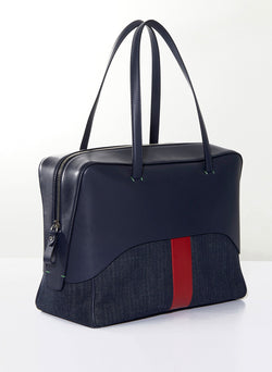 Tibi Papa Bag Navy/Red Multi-2
