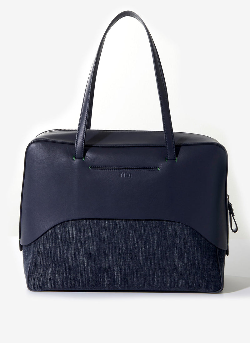 Tibi Papa Bag Navy/Red Multi-3