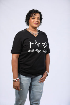 T.D. Jakes - Faith Hope & Love T-Shirt