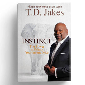 T.D. Jakes - Instinct Hard Backed Book - Signed