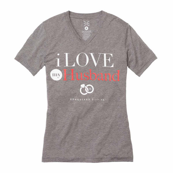 T.D. Jakes - I Love My Husband V-Neck T-Shirt - 316 Collection