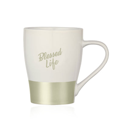 T.D. Jakes - Blessed Life White and Silver Mug
