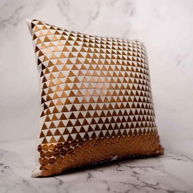 T.D. Jakes - Gold Embellished Pillow - Triangle