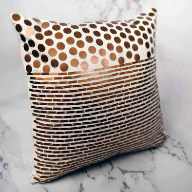 T.D. Jakes - Gold Embellished Pillow - Circle