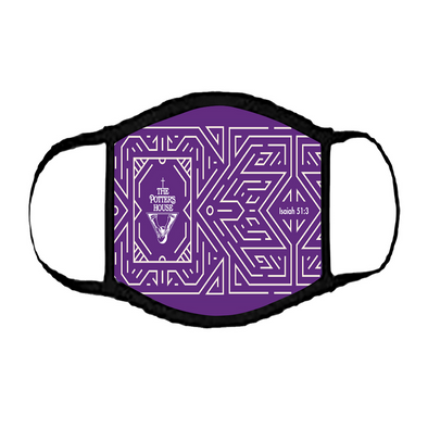 T.D. Jakes - The Potter's House Logo Printed Purple Mask