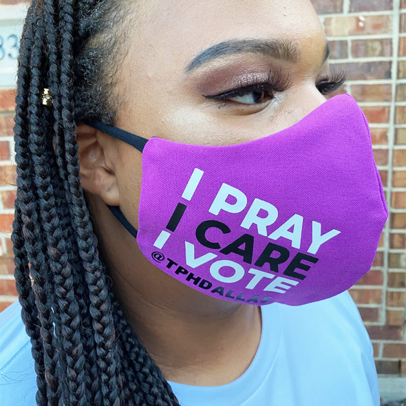 T.D. Jakes - I Pray I Care I Vote Mask