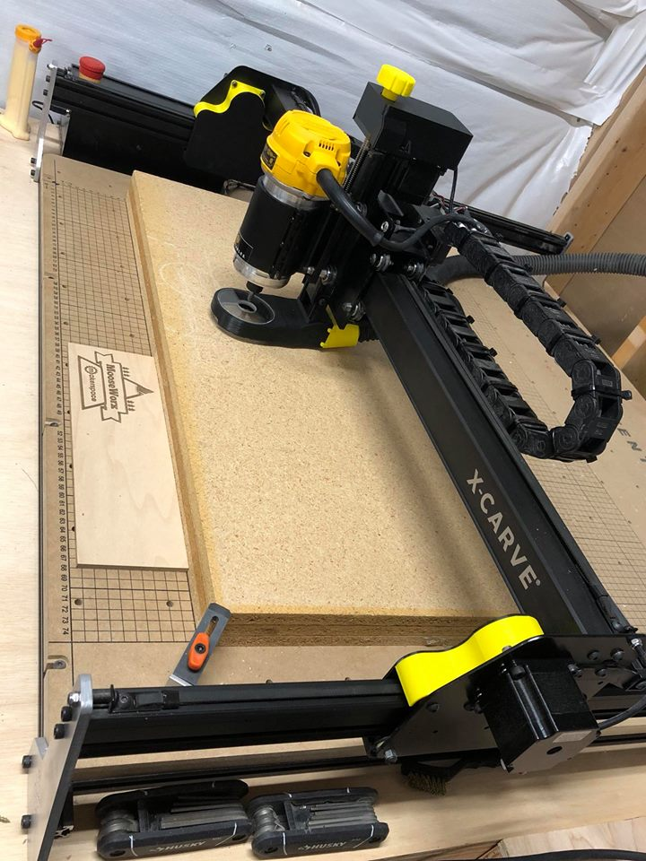 X-Carve Y Axis Dust Covers (w/ optional Z Axis Cover & Knob)