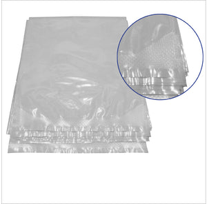 Angle Heat Sealed Cook Chill Bag with Close Up View of Angle Seal
