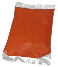 Angle Heat Sealed Cook Chill Bag with Marinara Sauce