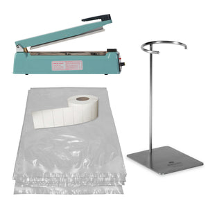 "Cook Chill Starter Set with Ring Stand & 12"" Hand Sealer"