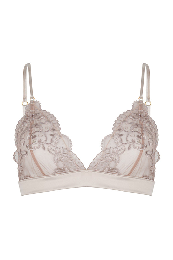 Chptr-s, back to business, Champagne, Satin, Lace, The Ambitious, bralette