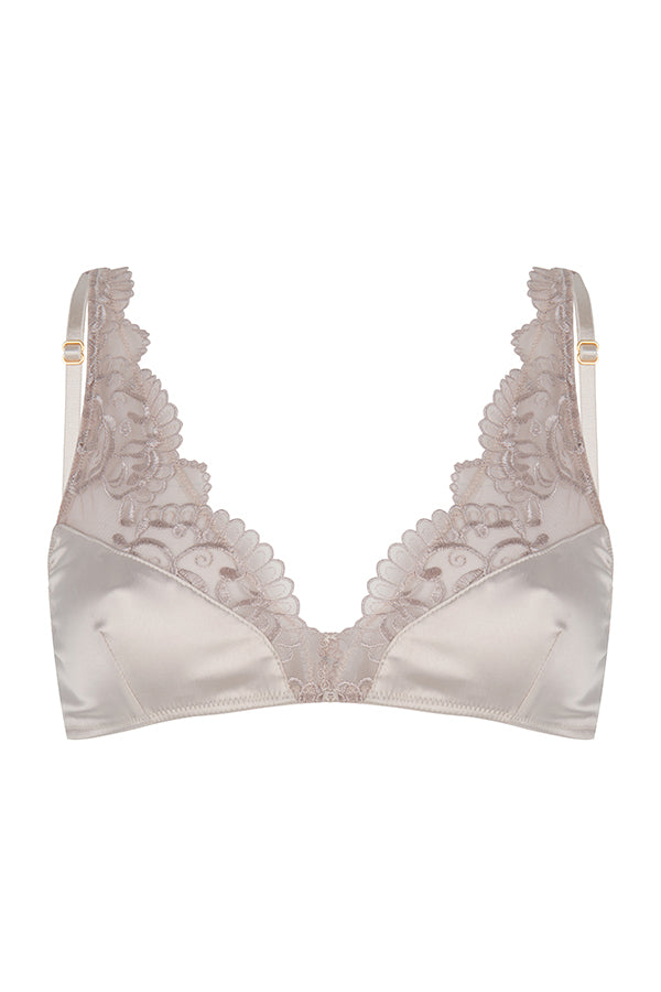 Chptr - S, the adventourous, Champagne, Lace, satin, sexy, bralette, Packshot