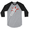 "Edge ""Horns"" 3/4 Sleeve Raglan T-shirt - wweretro"