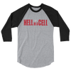Hell in a Cell Logo 3/4 Sleeve Raglan T-Shirt - wweretro