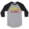 "Ronda Rousey ""Baddest on the Planet"" 3/4 sleeve raglan shirt"