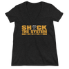 "The Undisputed Era ""Shock The System"" Women's Deep V-Neck T-Shirt - wweretro"