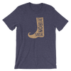 Iron Sheik Boot T-Shirt - wweretro
