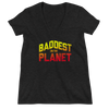 "Ronda Rousey ""Baddest on the Planet"" Women's Fashion Deep V-neck Tee"