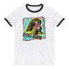 Ultimate Warrior Photo Unisex Ringer T-Shirt - wweretro