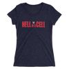 Hell in a Cell Logo Women's Tri-Blend T-Shirt - wweretro
