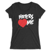 "The Miz ""Haters Love Me"" Women's Tri-Blend T-Shirt - wweretro"