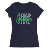 "Jake ""The Snake"" Roberts Tri-Blend Women's T-Shirt - wweretro"