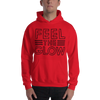"Naomi ""Feel the glow"" Hooded Sweatshirt - wweretro"