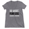 "Nikki Bella ""Do More. Fear Less."" Women's Deep V-Neck T-Shirt"