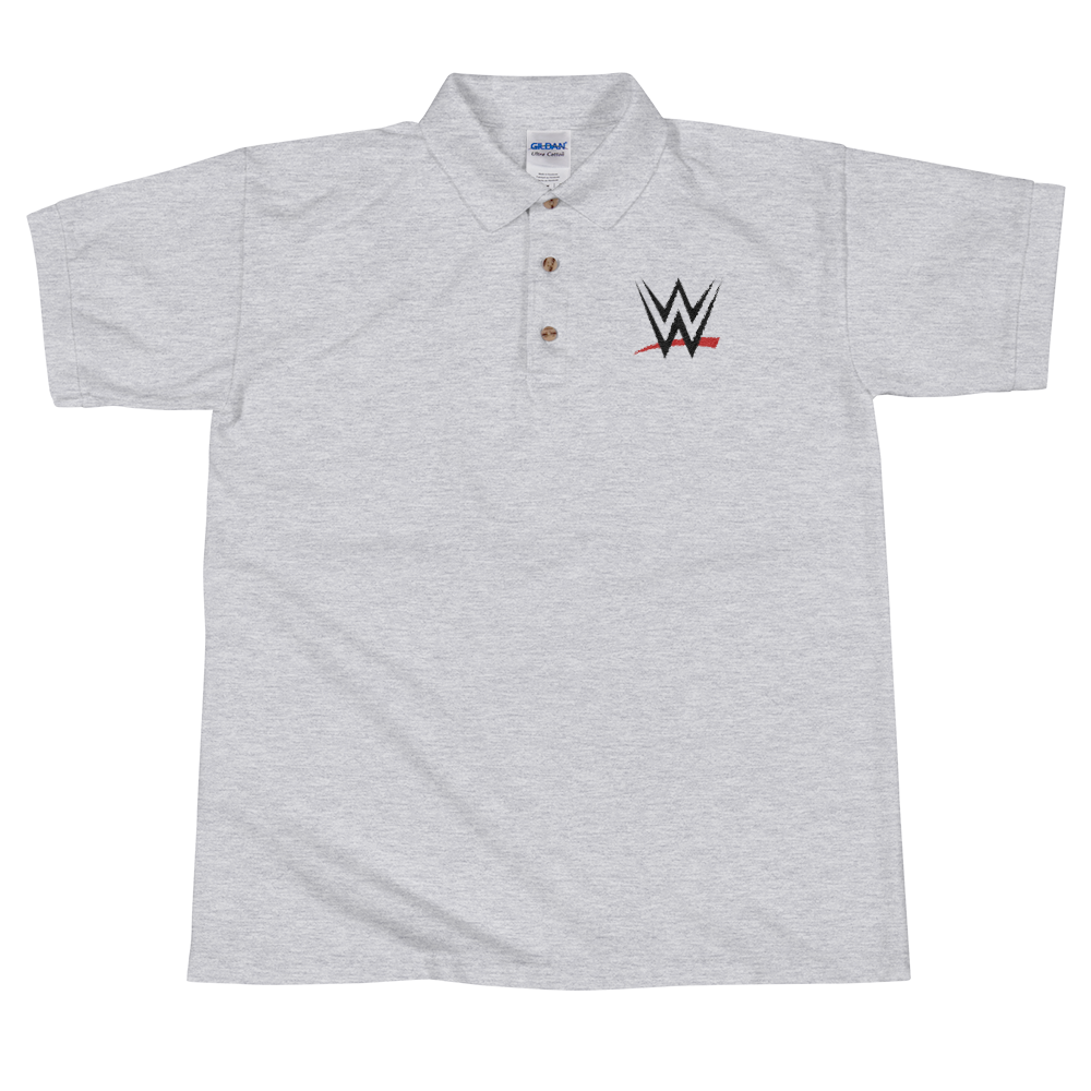 Wwe Logo Embroidered Polo Shirt Wwe Custom Tees
