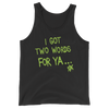 "D-Generation X ""Two Words For Ya"" Unisex Tank Top - wweretro"