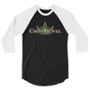 Crown Jewel Logo 3/4 Sleeve Raglan T-Shirt - wweretro