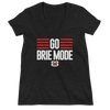 "Brie Bella ""Go Brie Mode"" Women's Deep V-Neck T-Shirt - wweretro"