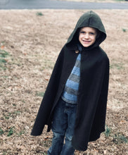 Load image into Gallery viewer, Green Hooded Wool Cloak